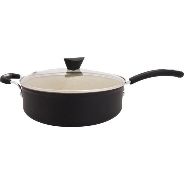 with 100/% APEO /& PFOA-Free Stone-Derived Non-Stick Coating from Germany Ozeri The Stone Earth All-In-One Sauce Pan