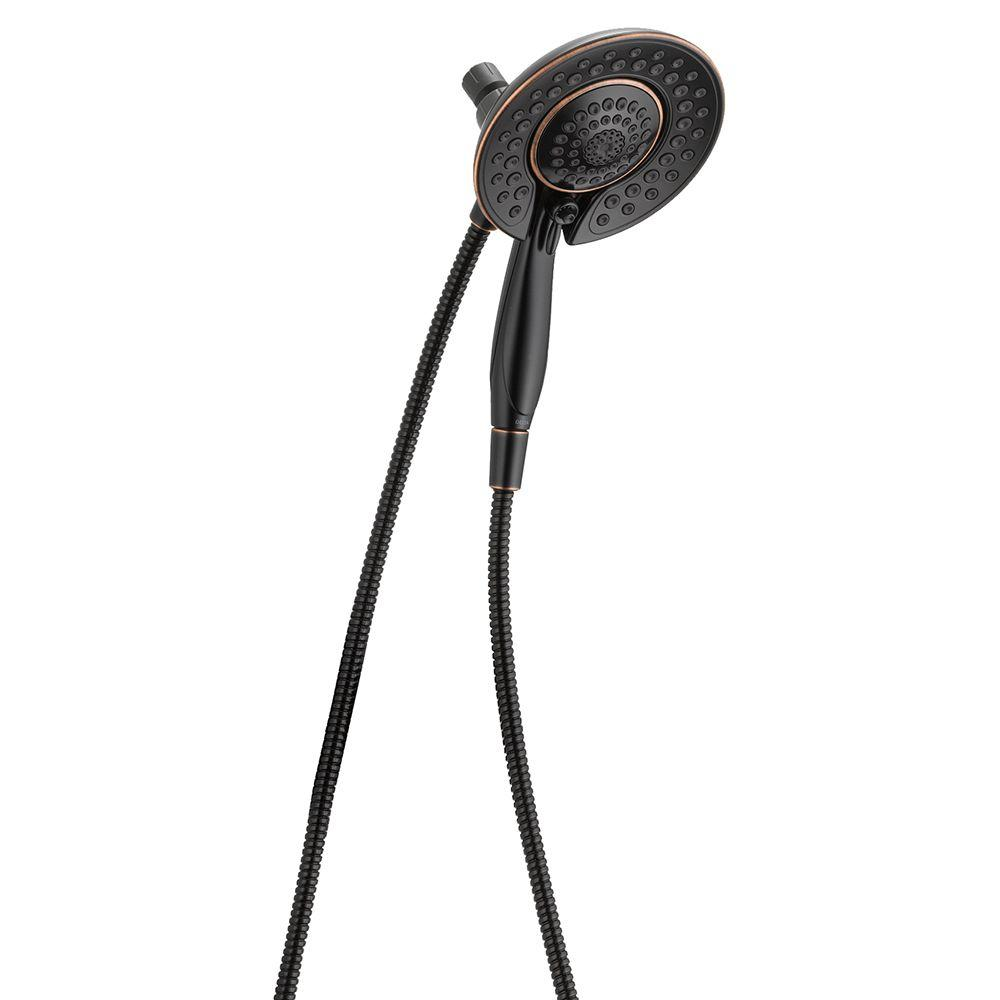 Delta In2ition 5-Spray 2-in-1 Hand Shower and Shower Head Combo ...