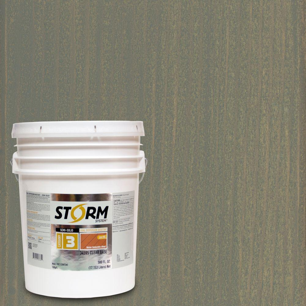 Storm System Category 3 5 gal. Bound Rock Exterior Semi-Solid Dual Dispersion Wood Finish