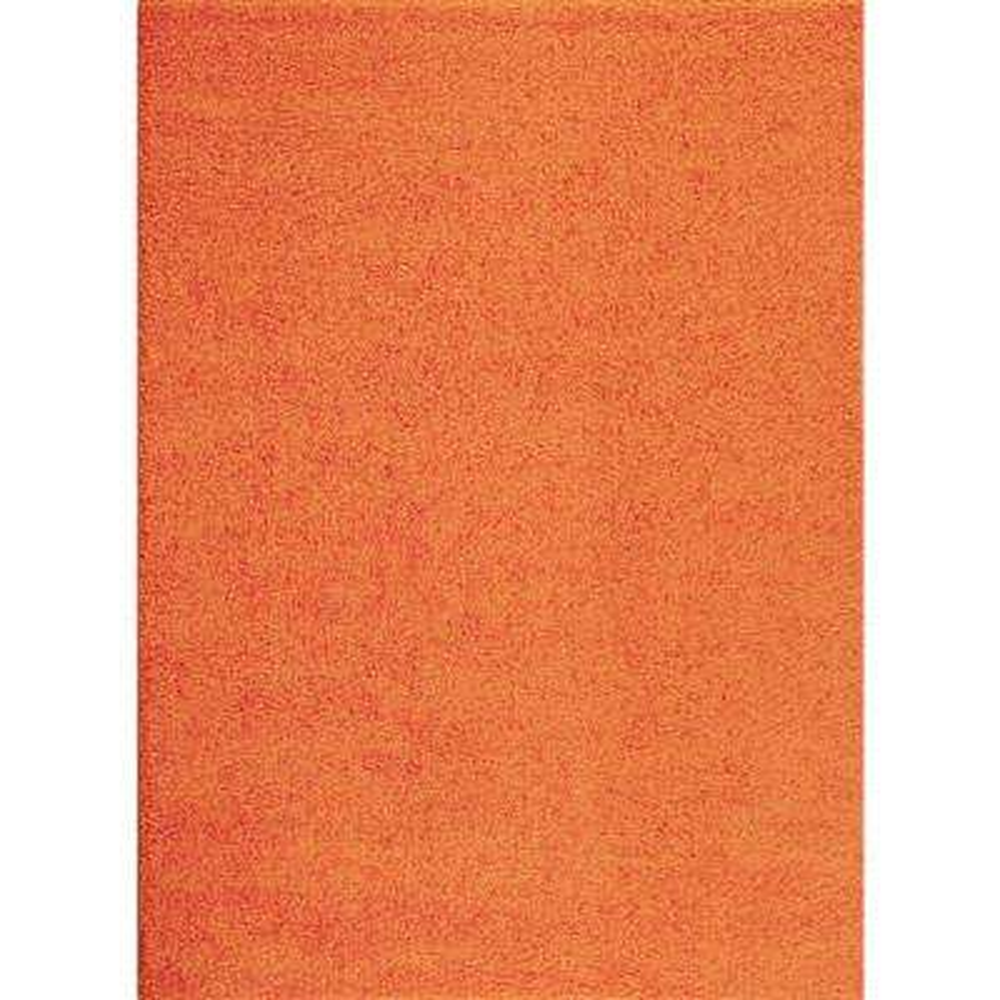Soft Cozy Solid Orange 3 ft. 3 in. x 5 ft. Indoor Shag Area Rug