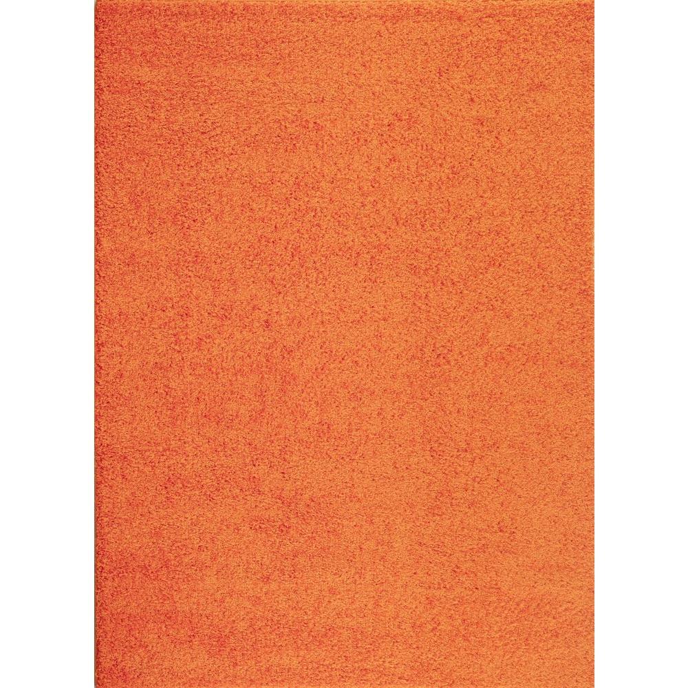 Soft Cozy Solid Orange 5 Ft 3 In X 7