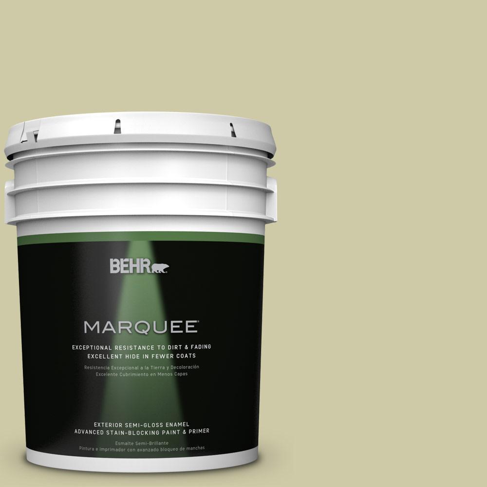 5-gal. #ICC-58 Crisp Celery Semi-Gloss Enamel Exterior Paint