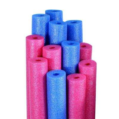 Blue and Pink Swimming Pool Water Noodles (12-Pack)