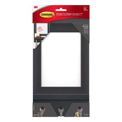 6.81 in. x 1.515 in. Slate Dry Erase Message Center Hanging Organizer