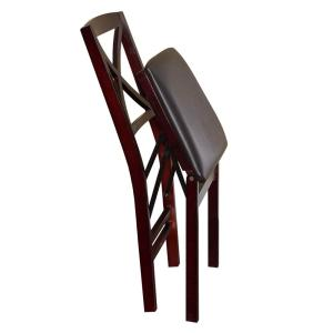 Superb Linon Home Decor Triena Expresso X Back Folding Chairs Set Squirreltailoven Fun Painted Chair Ideas Images Squirreltailovenorg