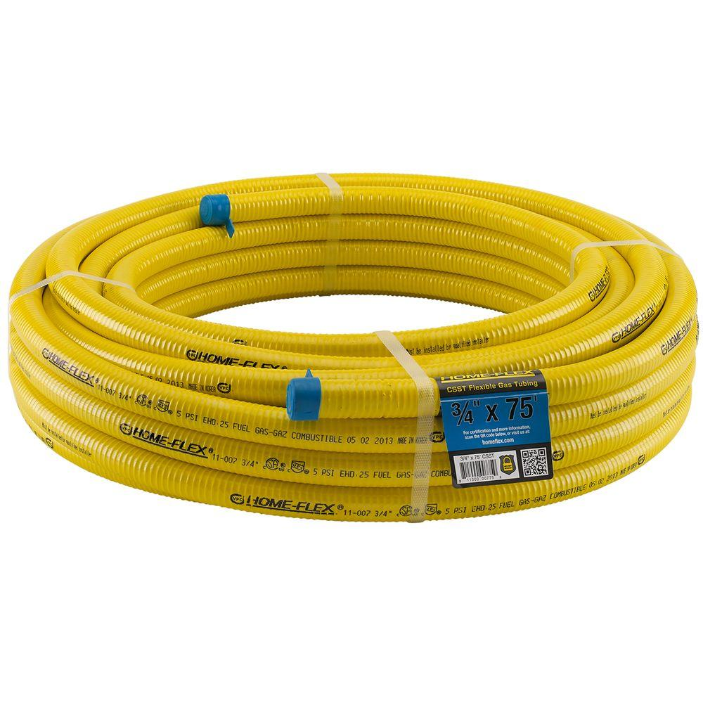 HOME-FLEX 3/4 in. CSST x 75 ft. Corrugated Stainless Steel Tubing