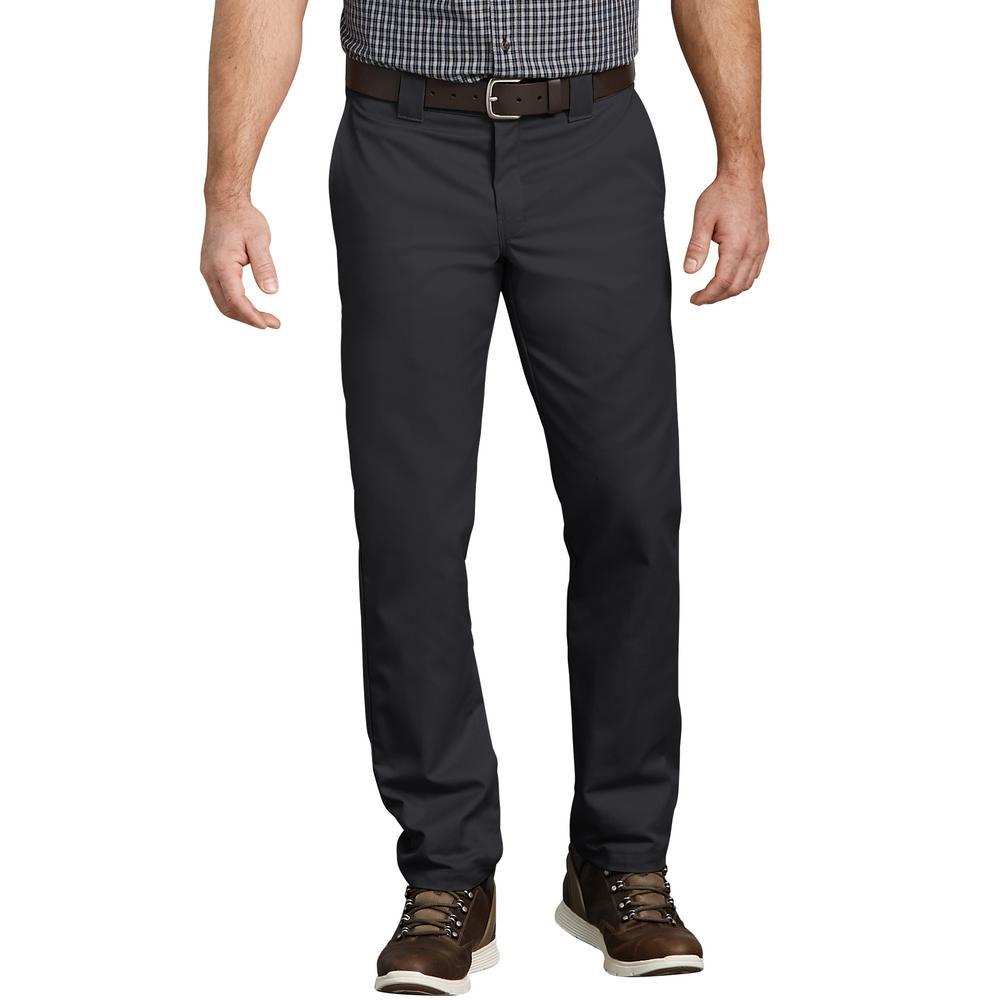 Regular Taper Fit Dickies KHAKI Mens Flat Front Pant