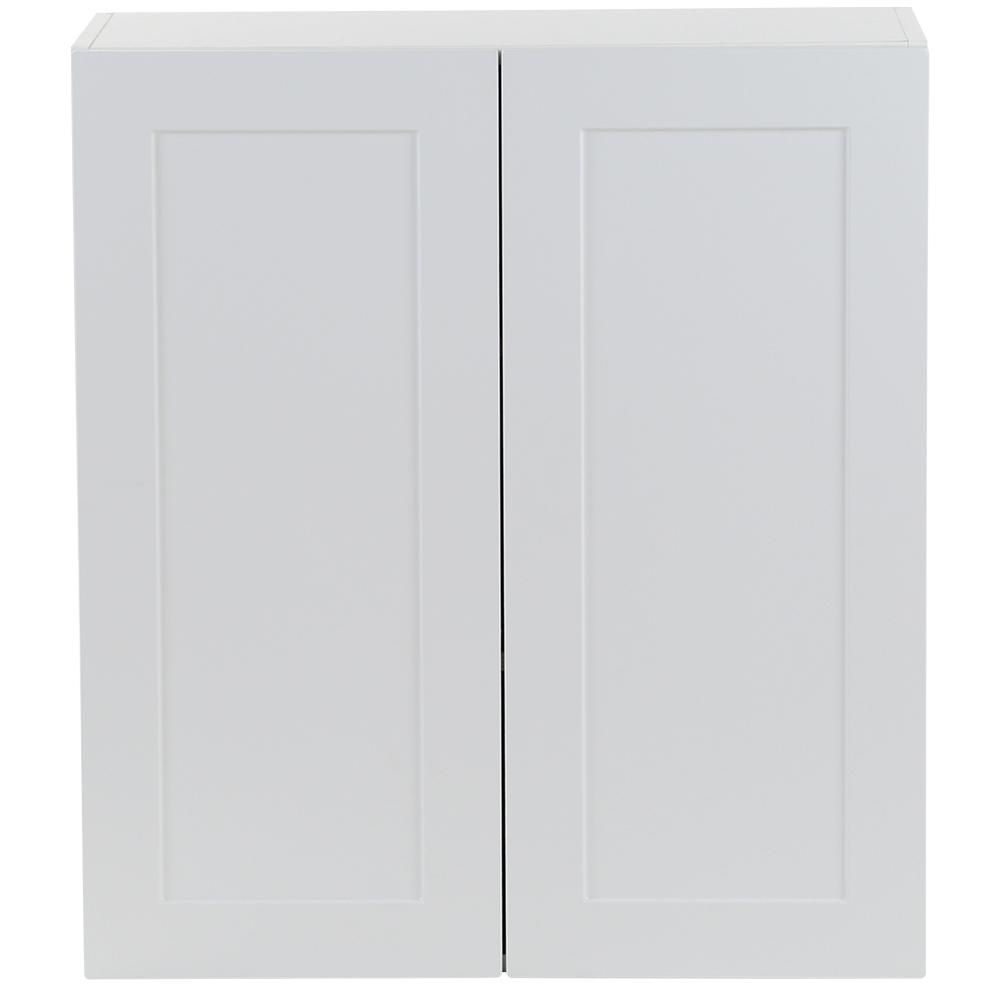 Cambridge Assembled 27x30x12 in. All Plywood Wall Cabinet in White