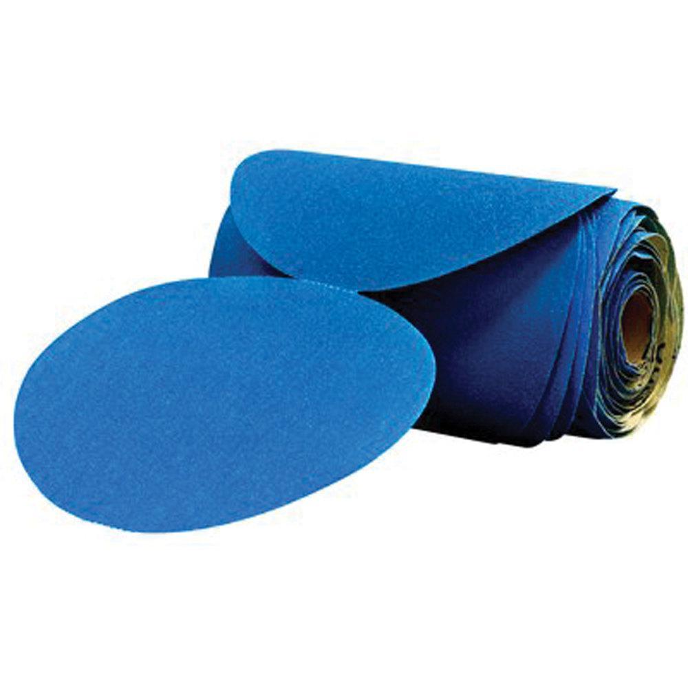 3m 6 In Disc 120 Grade Stikit Sandpaper In Blue 100 Per Roll 36204 The Home Depot
