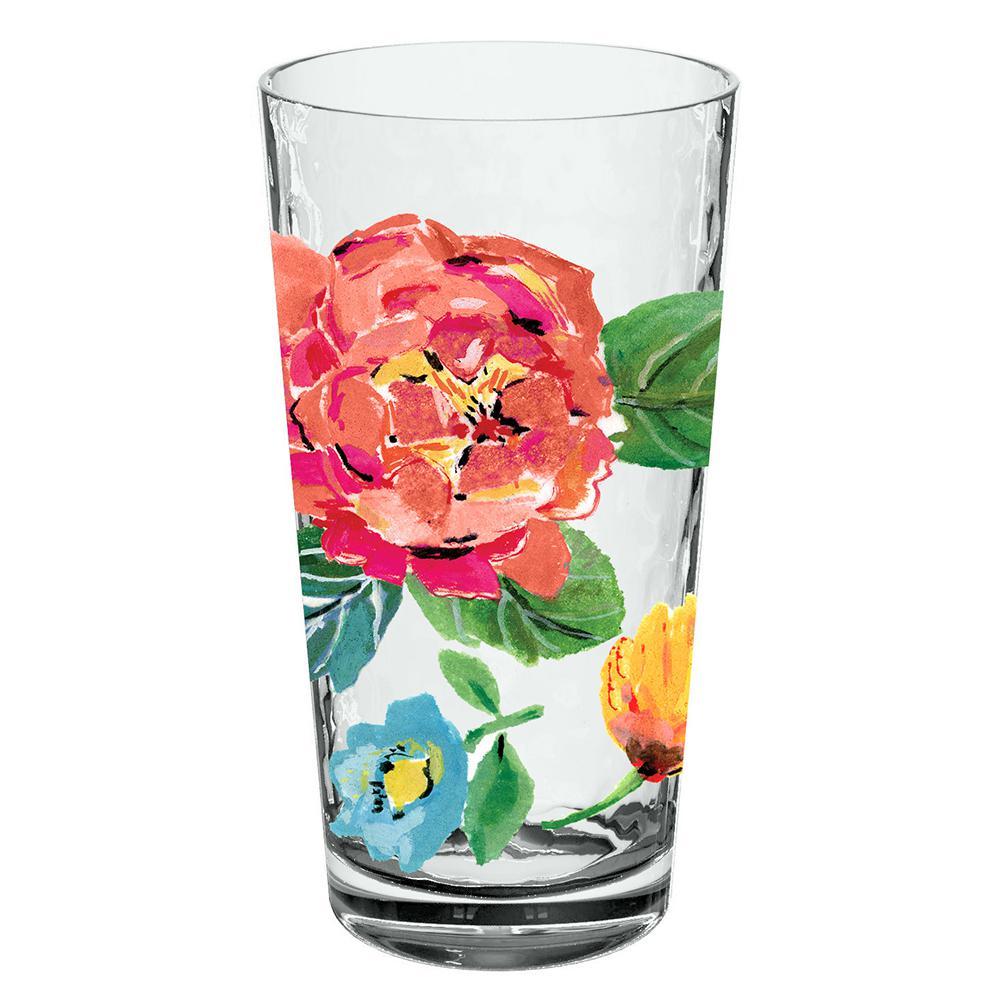 21.5 oz. Garden Floral Jumbo Glass