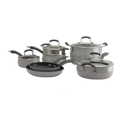 Translucent 11-Piece Hard-Anodized Aluminum Nonstick Cookware Set in Drizzle