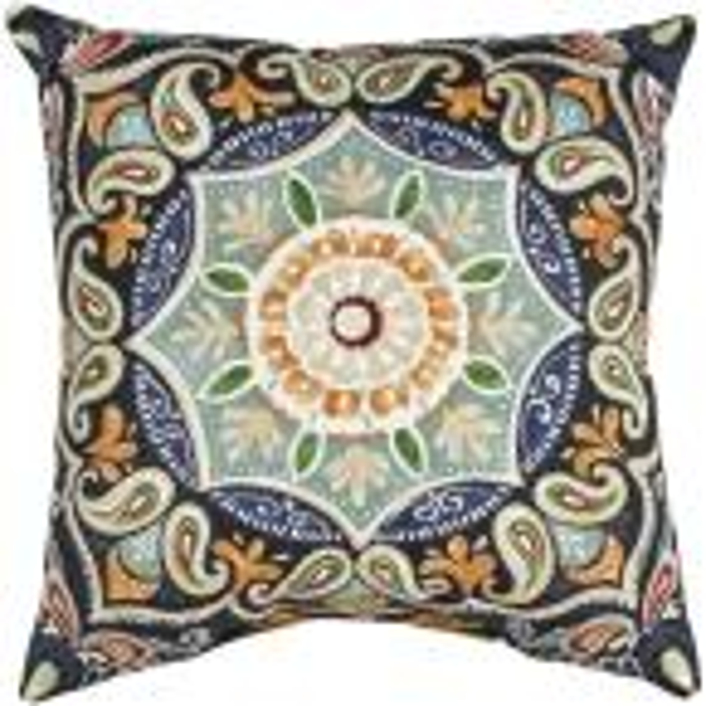 Fern Medallion Square Outdoor Throw Pillow