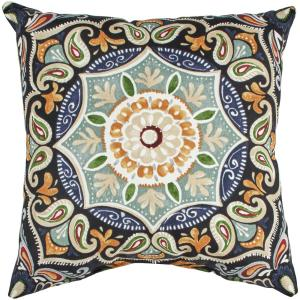 Fern Medallion Square Outdoor Throw Pillow