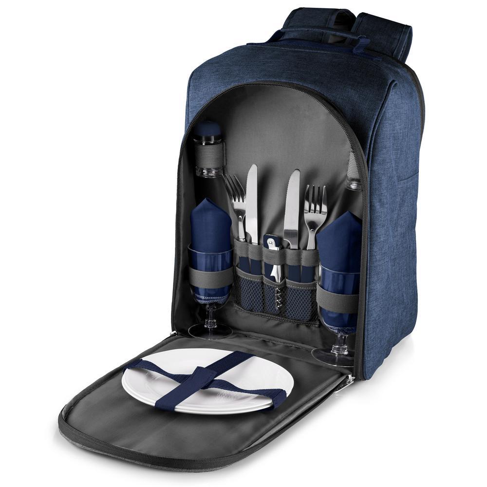 Colorado Navy Wood Picnic Cooler Backpack