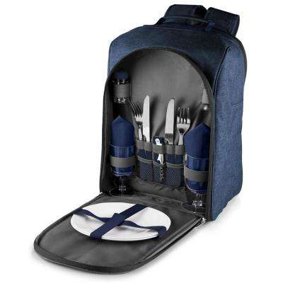 Colorado Navy Wood Picnic Cooler Backpack