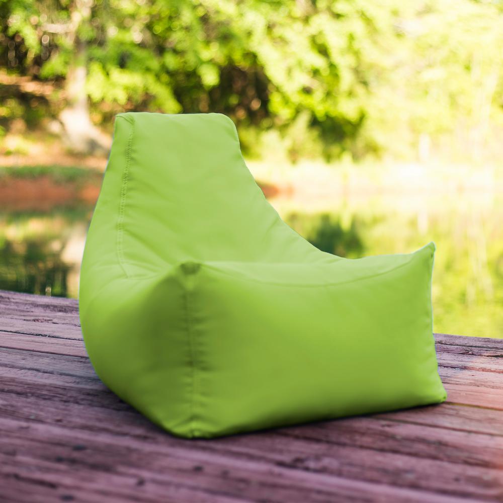Lime Outdoor Kids Bean Bag Lawn Chair