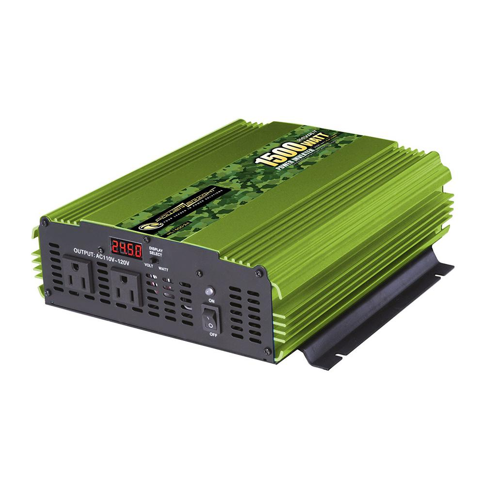 1500-Watts 24-Volt DC to 110-Volt AC Power Inverter
