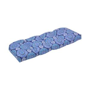 1 Outdoor Patio Bench Cushion ~ Purple Floral ~ 17 x 46 x 3.25 **NEW**
