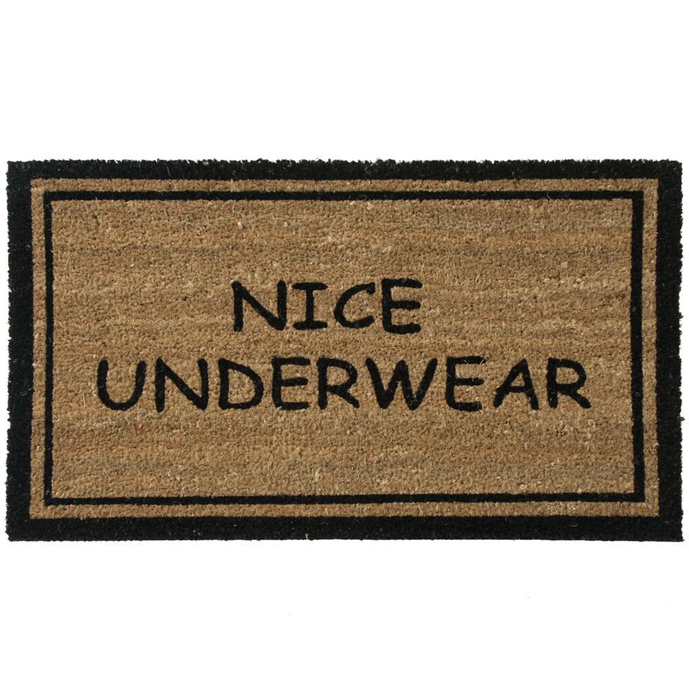Nice Underwear 30 in. x 18 in. Funny Door Mat