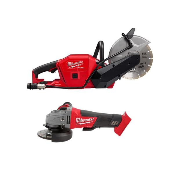M18 FUEL 18-Volt Lithium-Ion Brushless 9 in. Cordless Cut Off Saw & 4-1/2 in. Grinder with Paddle Switch (2-Tool)