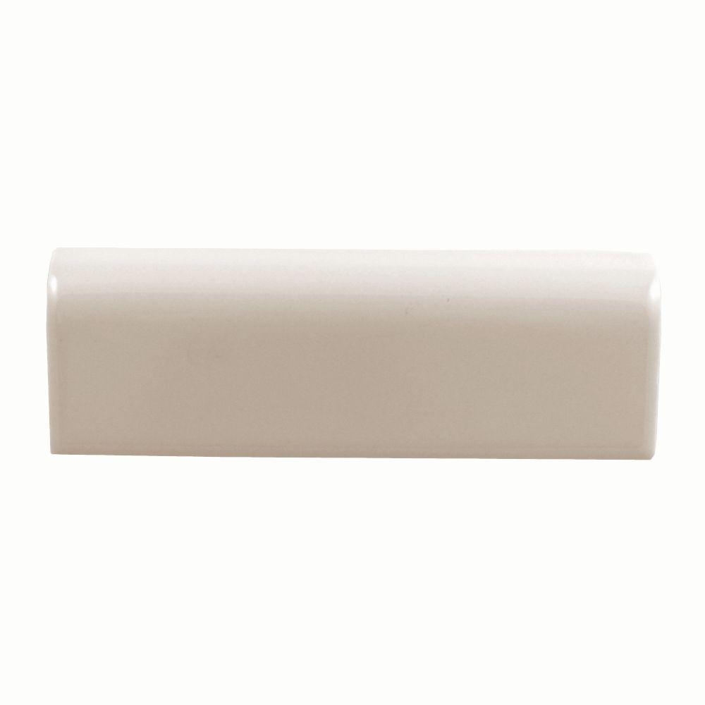 Daltile Semi Gloss Almond 2 In X 6 Ceramic V Cap
