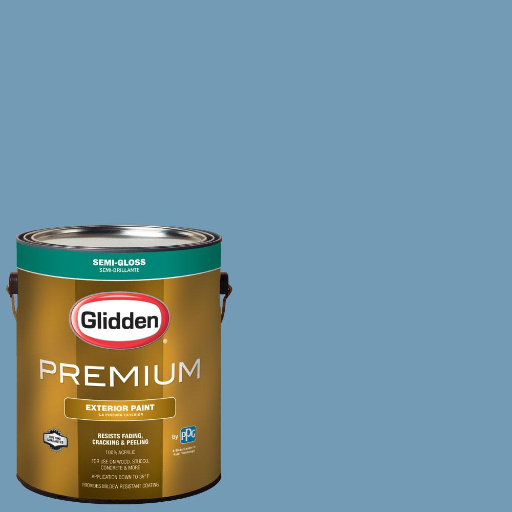 Glidden Premium 1 gal. #BB-119B San Diego Padres Light Blue Semi-Gloss Exterior Paint