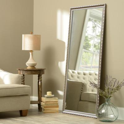 Oversized Champagne Gold Composite Adjustable Mirror Glam Classic Mirror (64 in. H X 21 in. W)