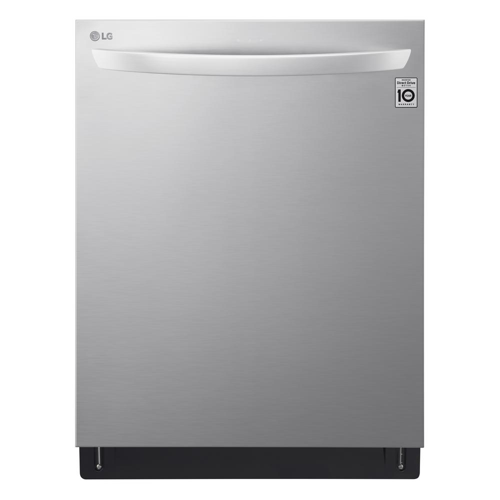 LG Electronics Top Control Dishwasher in Printproof Stainless Steel with Wi-Fi Enabled and QuadWash, 44 dBA