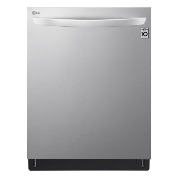 24 in. in PrintProof Stainless Steel Top Control Built-in Smart Dishwasher with QuadWash and Wi-Fi Enabled, 44 dBA