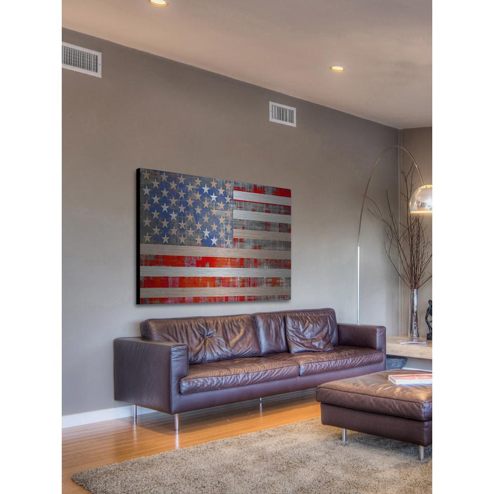 "30 in. H x 45 in. W ""American Dream"" by Parvez Taj Printed Brushed Aluminum Wall Art"
