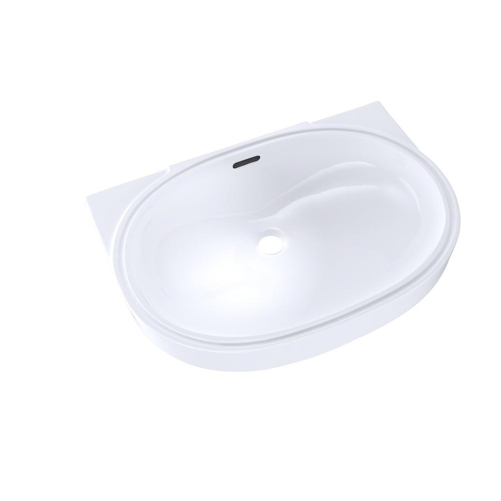 Toto 20 In Oval Undermount Bathroom Sink With Cefiontect