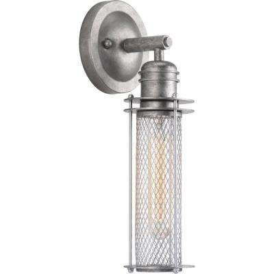 Industrial Collection 1-Light Galvanized Finish Wall Sconce