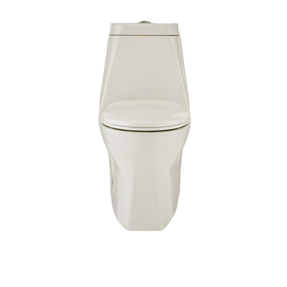 Porcher Epic 1-Piece Elongated Toilet in White-DISCONTINUED