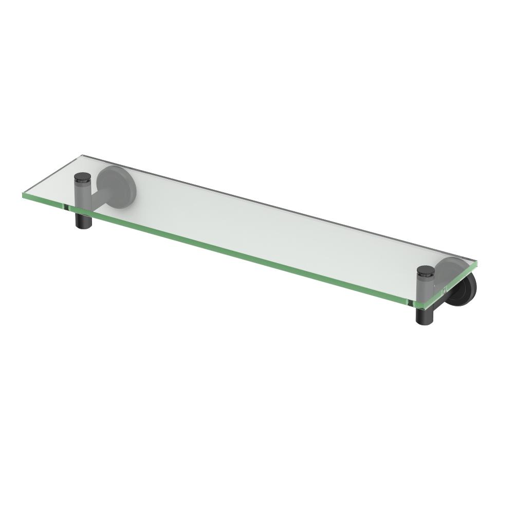 Latitude II 5.5 in. Glass Shelf in Matte Black