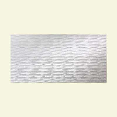 Dunes Horizontal 96 in. x 48 in. Decorative Wall Panel in Gloss White
