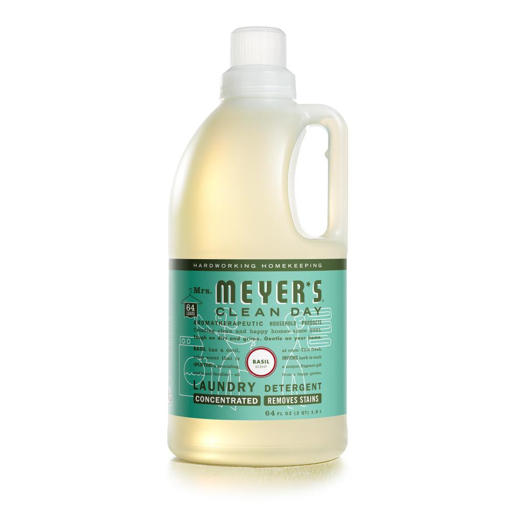 Mrs. Meyer's Clean Day 64 oz. Basil Scent Laundry Detergent