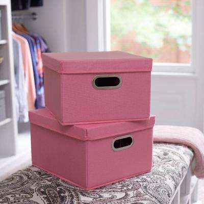 13 in. x 8 in. Carnation Linen Bin Set (2-Pack)