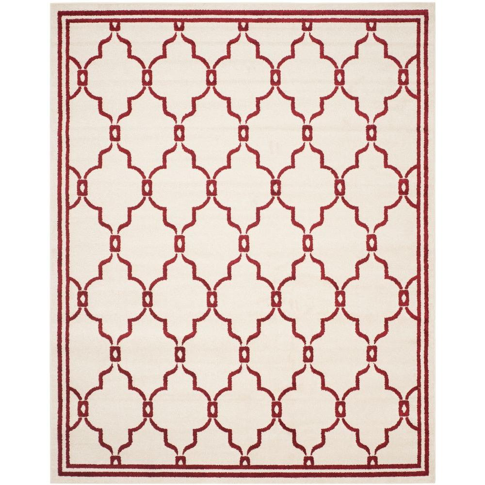 Amherst Ivory/Red 9 ft. x 12 ft. Indoor/Outdoor Area Rug
