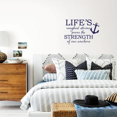 Blue Strong Anchor Wall Decal