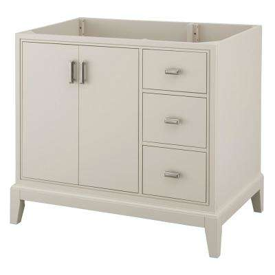 Shaelyn 36 in. W x 21.75 in. D Vanity Cabinet Only in Rainy Day