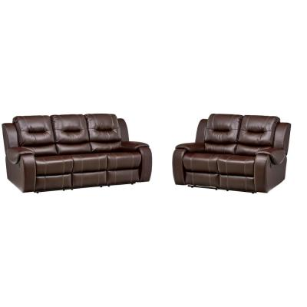 Clark 2-Piece Umber Sofa, Loveseat Living Room Set