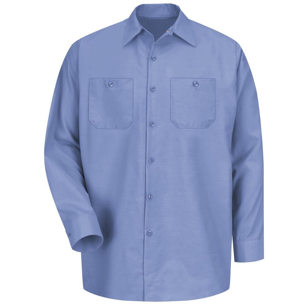 Red Kap Men S Size M Light Blue Long Sleeve Work Shirt Sp14lb Rg M