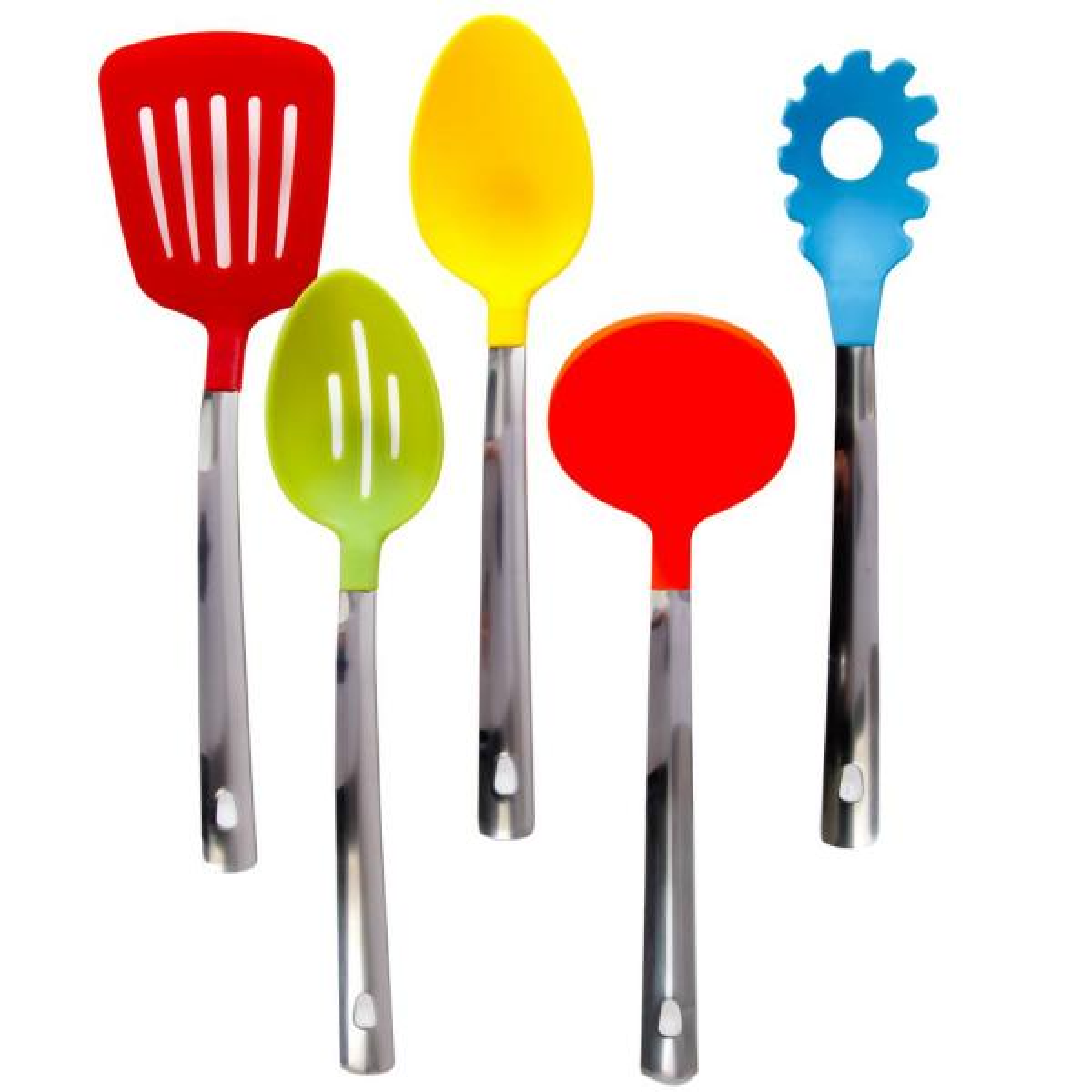 Gibson Home Kitchen Basics Nylon Multicolored Kitchen Tool Set (Set of 5)