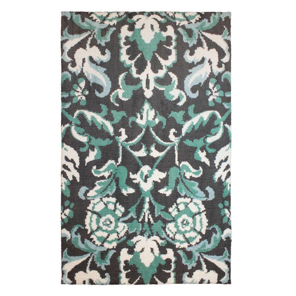 laura ashley penelope plush knit duck egg blue 4 ft x 6. Black Bedroom Furniture Sets. Home Design Ideas