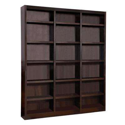 72 in. x 84 in. Espresso Wall Storage Unit