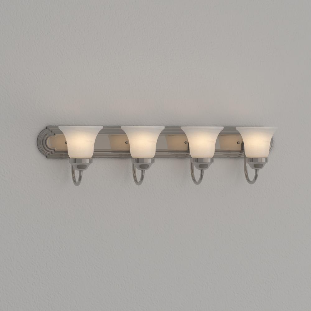 Progress Lighting P3054-09 4-Light Bath Bracket Brushed Nickel