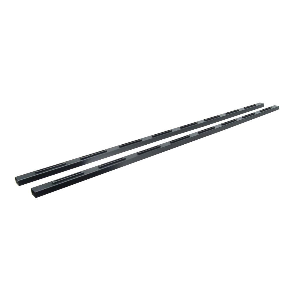 Al13 6 ft. Black Sand Aluminum Stair Hand Rail (2-Pack)