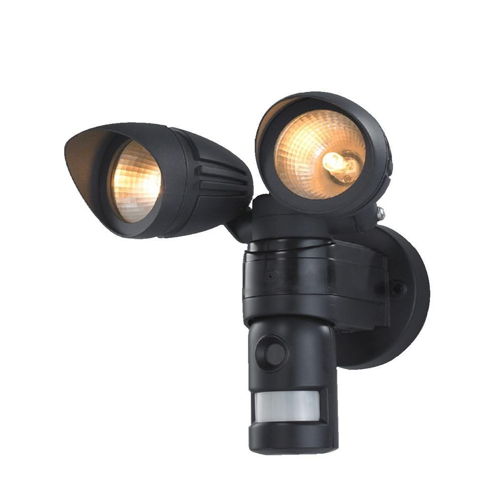 Felli Housewares SmartGuard 1500 sq. ft. Outdoor Black motion Light