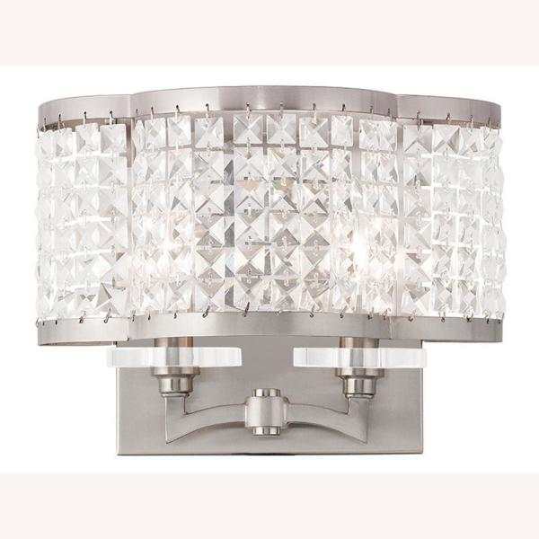 Grammercy 2 Light Brushed Nickel Wall Sconce