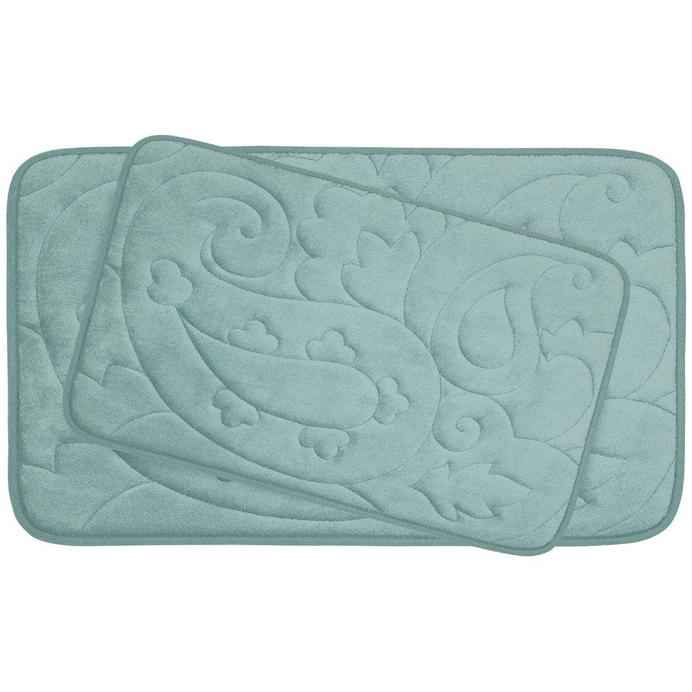 BounceComfort Pelton Aqua Memory Foam 2-Piece Bath Mat Set